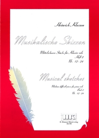 H. Klassen, Musical sketches, Book 2, N° 12-24