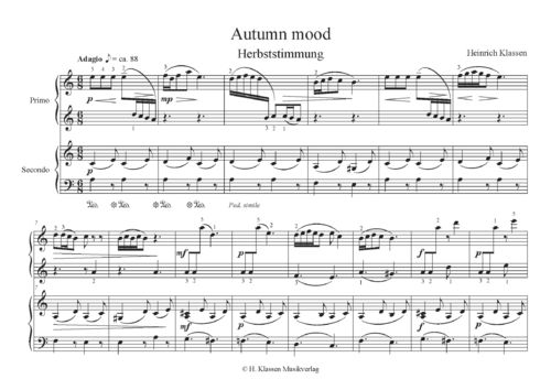H. Klassen, Autumn mood for piano 4 hands / PDF